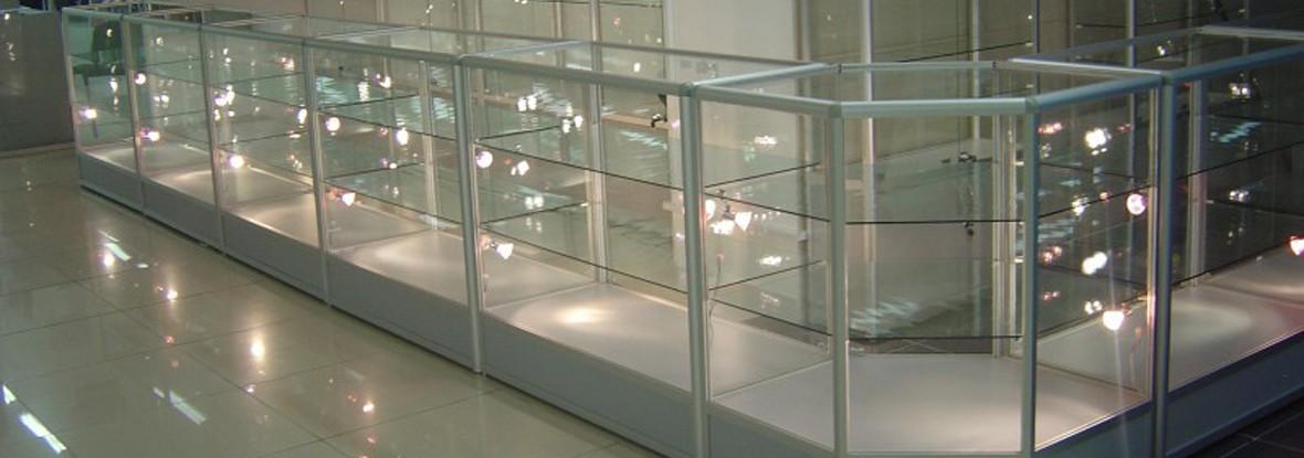 Витрины и прилавки из алюминиевого профиля